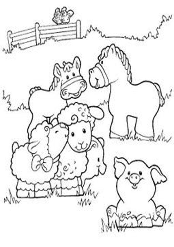 bauernhof  kostenlose ausmalbilder zeichnung  bauernhof