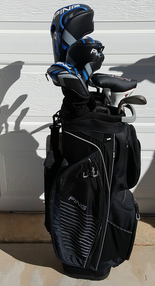Ping Complete Set Of G30 Clubs Traverse Golf Bag