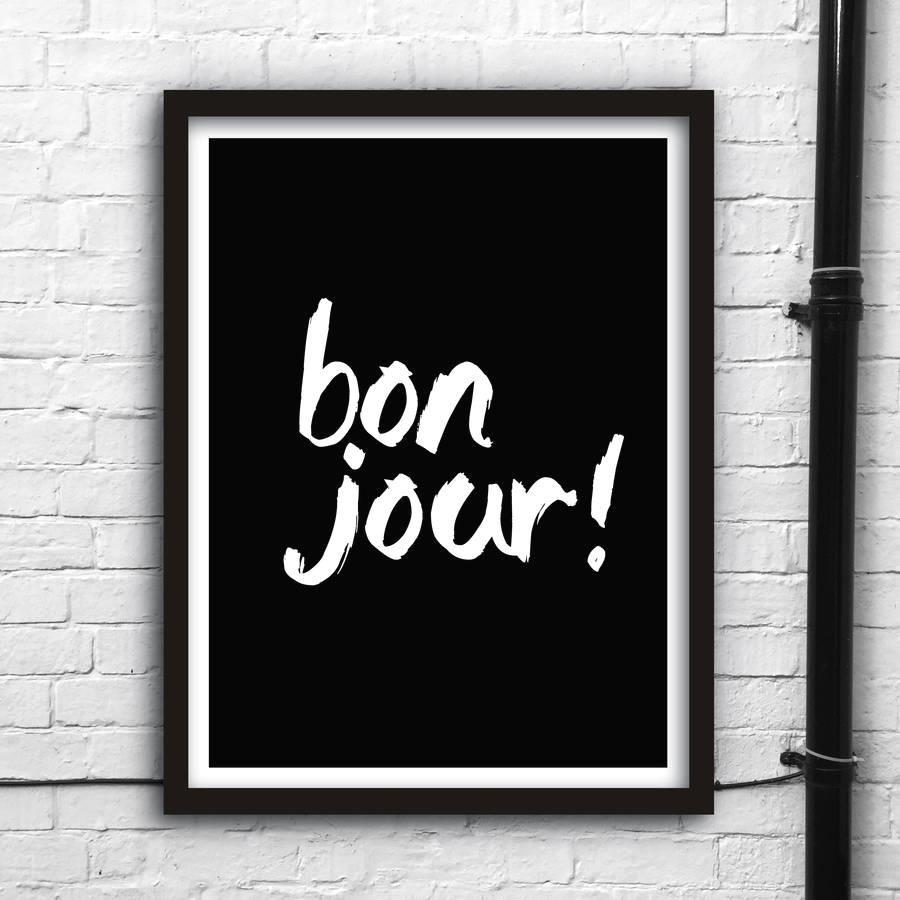 Bonjour http://www.amazon.com/dp/B016J0WQ88  motivationmonday print inspirational black white poster motivational quote inspiring gratitude word art bedroom beauty happiness success motivate inspire