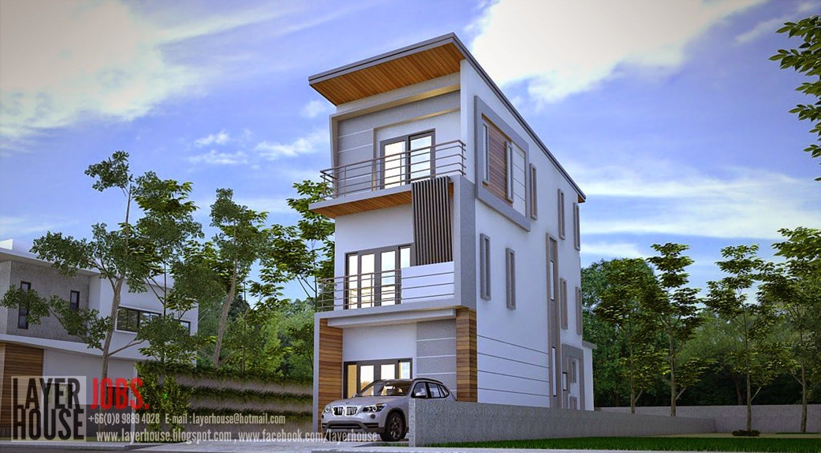 House Plans 4 8x11 5 With 5 Bedrooms Samhouseplans Model House Plan House Plans Narrow House Designs