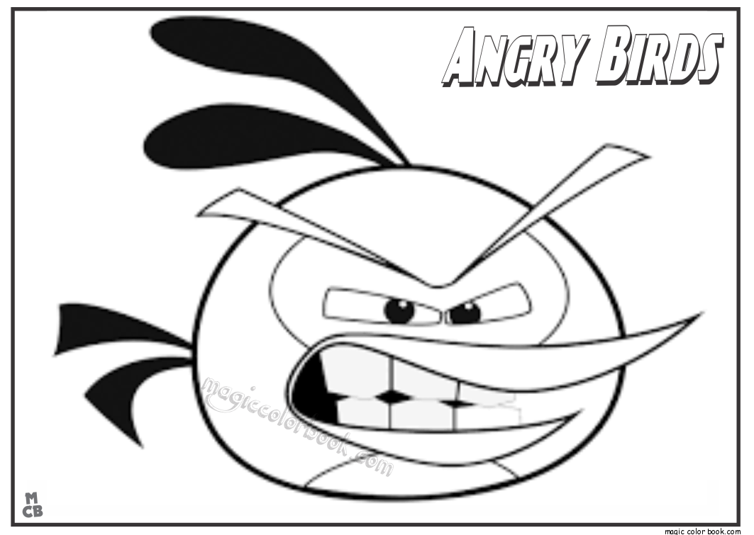 angry birds birdday party printable coloring pages - Angry Birds Free Printable Coloring Pages