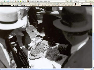 Actual Crime Scene Photos Bonnie And Clyde More bloody ...