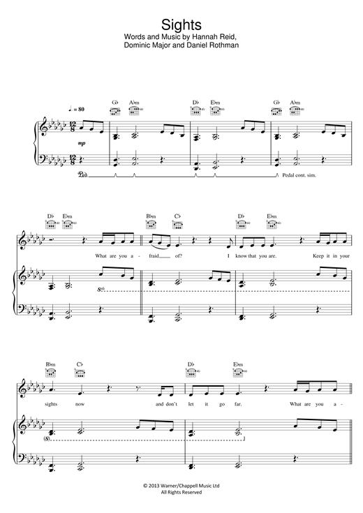 London Grammar Sights Sheet Music Notes Chords Score Download Printable Pdf Sheet Music Notes Sheet Music London Grammar