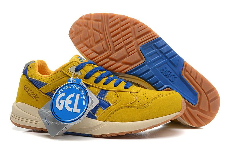 ASICS GEL SAGA 3 CLASSIC RETRO MENS RUNNING SHOE YELLOW
