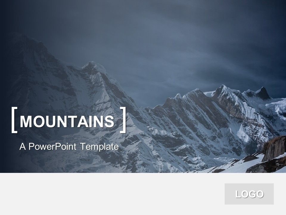 Powerpoint Template Mountains Presentationgo Concepts