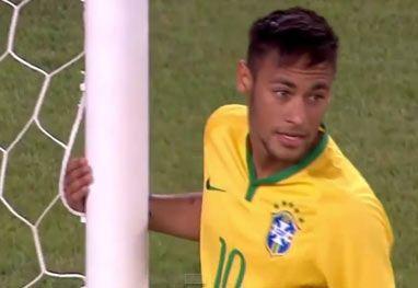 Neymar perde gol feito e ganha vinheta do Inacreditável Futebol Clube.