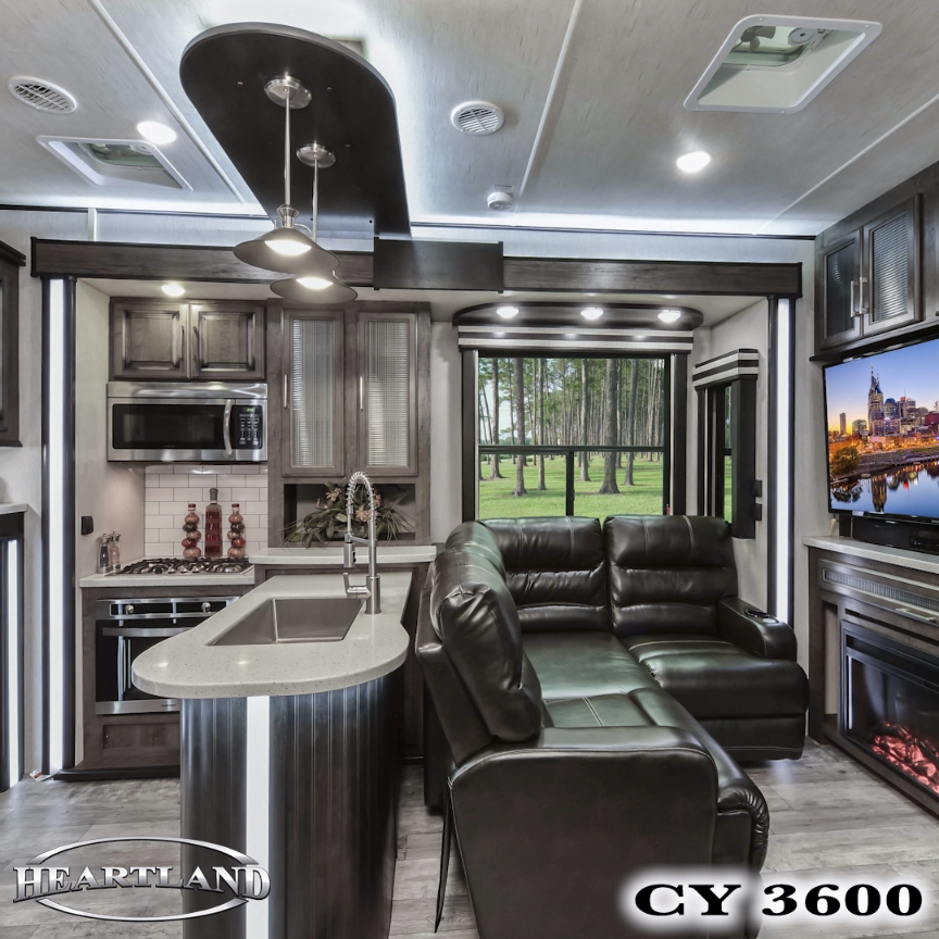 Photo of Take a quick tour of the 2018 Cyclone 3600. This luxurious 5th wheel toy hauler …