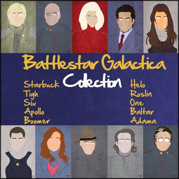 Battlestar Galactica mini-portrait collection