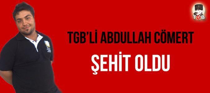 TGB | Türkiye Gençlik Birliği - TGBli Abdullah Cömert şehit oldu