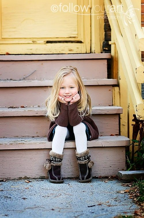 Old Looking Stairs Children Photography Poses Child