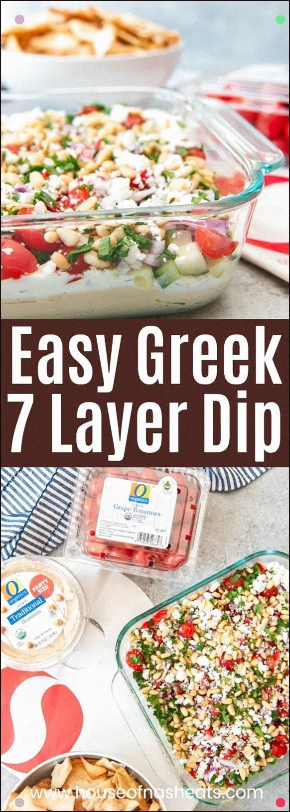 This Easy Greek 7 Layer Dip Is Loaded With All The Best Flavors Of The Greece In Dippable Form Garl
