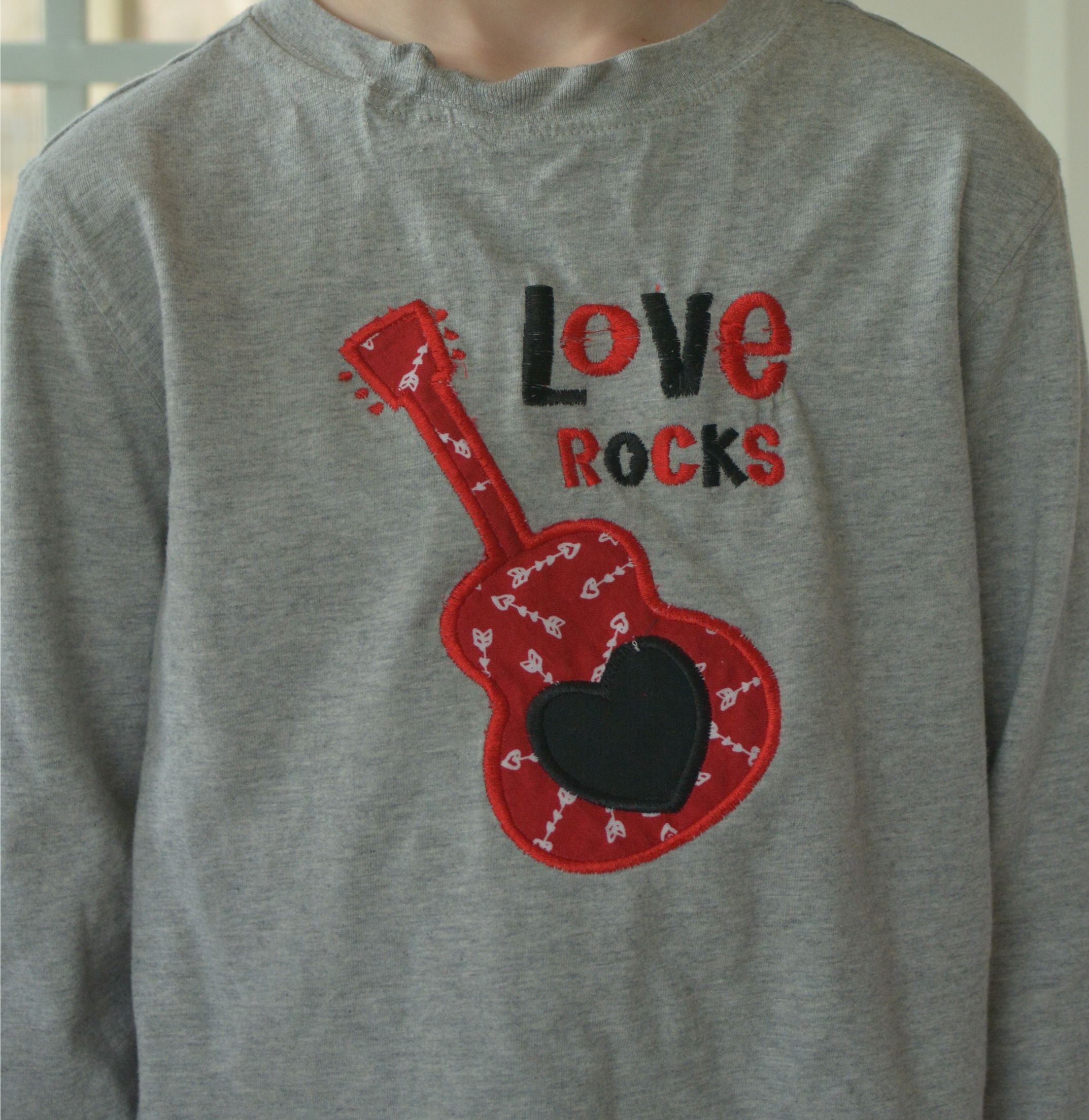 Valentine's Day Appliqué Shirt Created by cpmbycpm@gmail.com