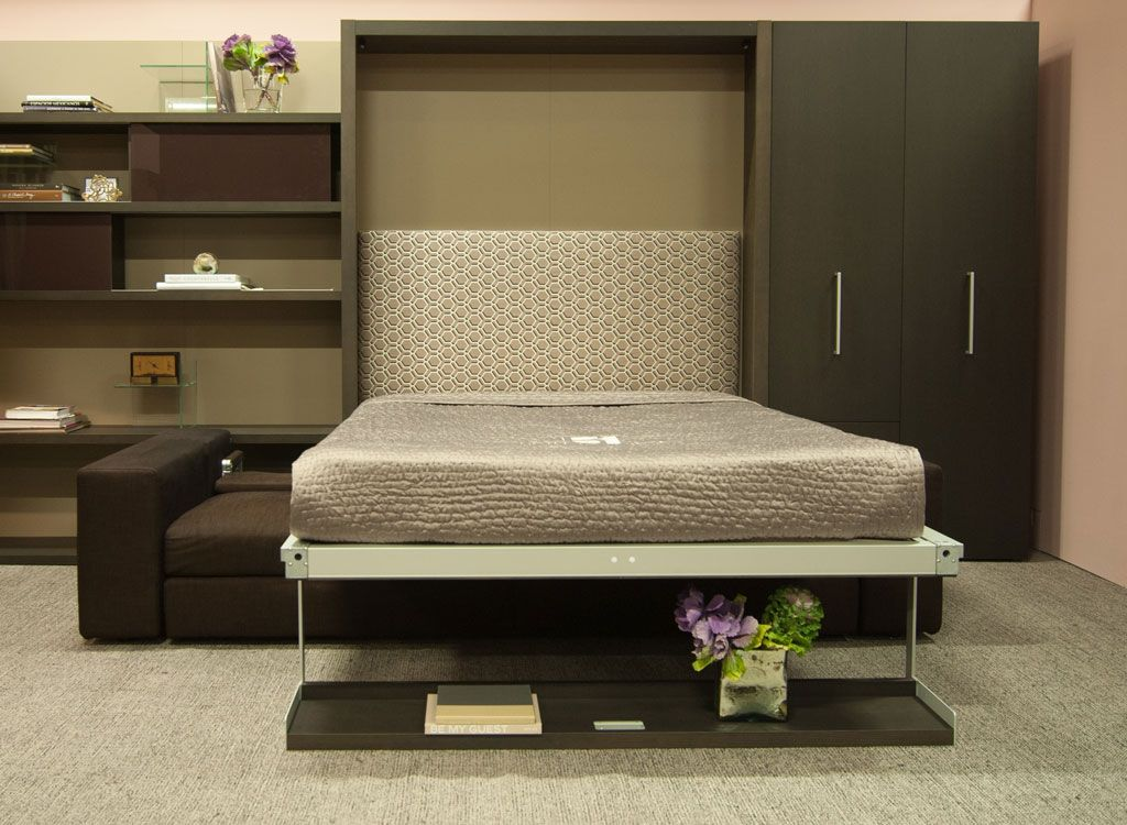 Queen Wall Bed with Sectional Sofa Swing Resource
