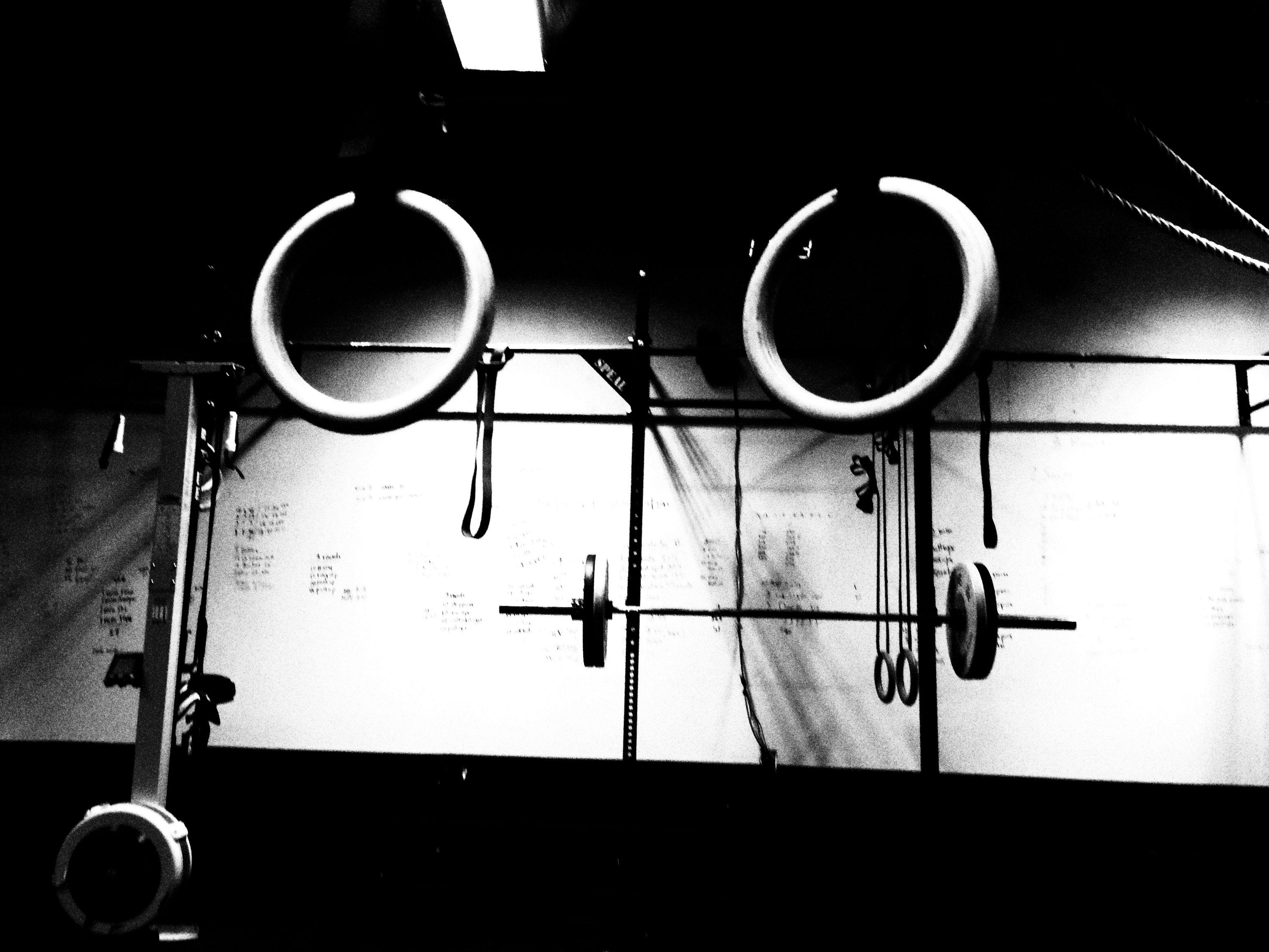 crossfit gym black and...