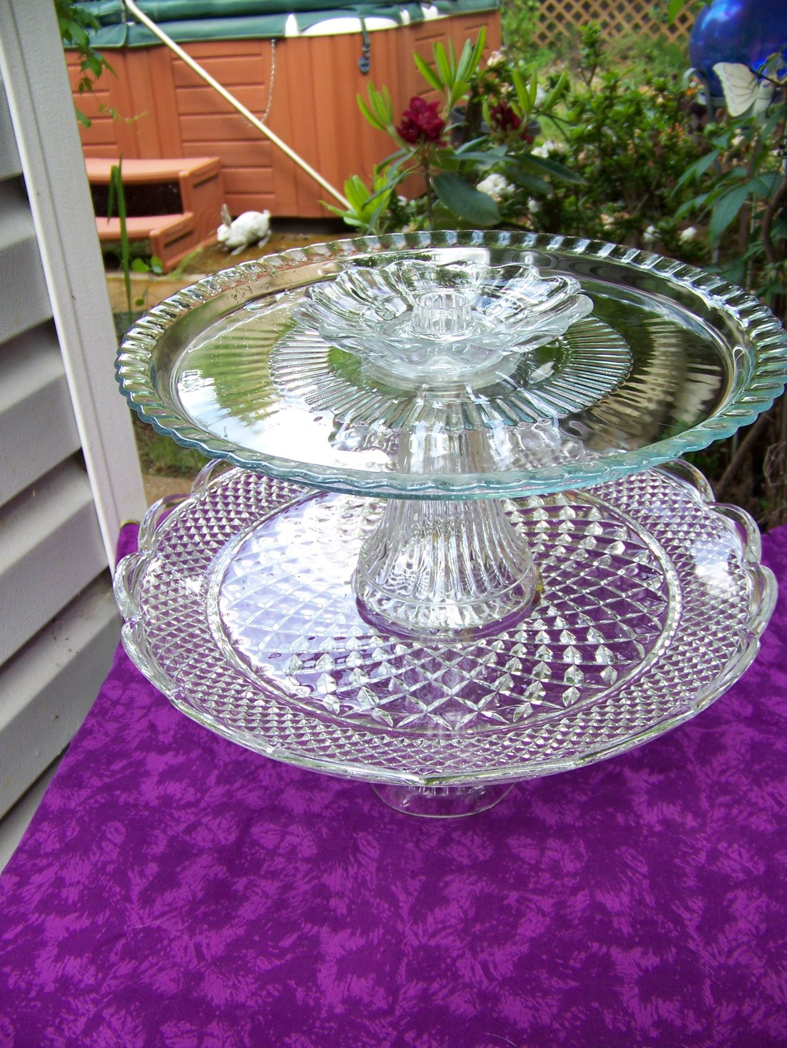 Closer look..recycled platters