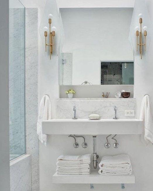Awesome 15 Clever Pedestal Sink Storage Design Ideas