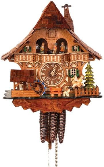 Cuckoo Clock With Dancing People Cuckoo Clock Clock Wall Clock