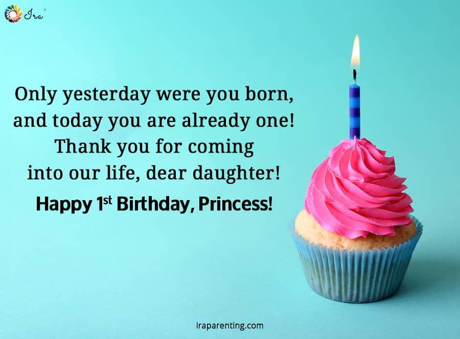 1st Birthday Wishes For Baby Girl Ira Parenting In 2020 1st Birthday Wishes First Birthday Wishes Happy First Birthday