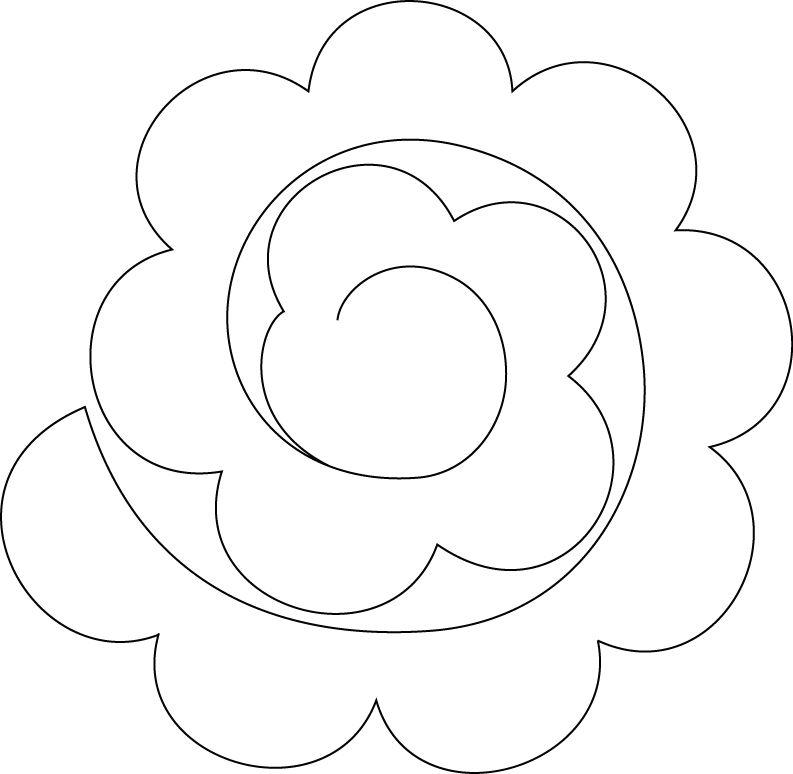 pattern for felt rose | DIY | Pinterest | Papierblumen, Blumen ...