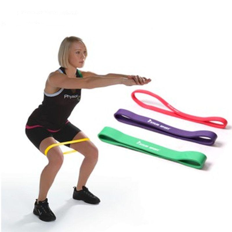 2170c9c335 Latex Athletic Rubber Bands Fitness Resistance Band Yoga Crossfit Equipment Elastic  Belt Thin Leg Workout Gym Dxercise Men Women