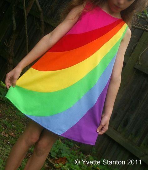 Rainbow-girl dress | Kids clothing, Rainbow dresses and Girls