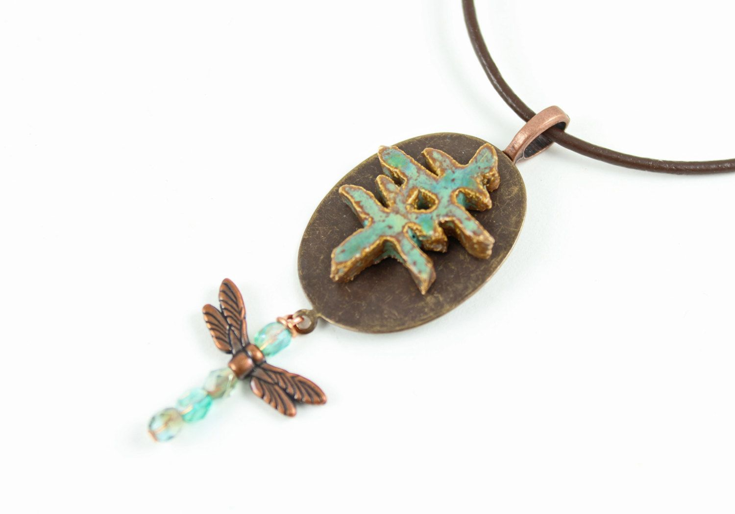 Japanese Symbol For Happiness Necklace Zen Jewelry Handmade