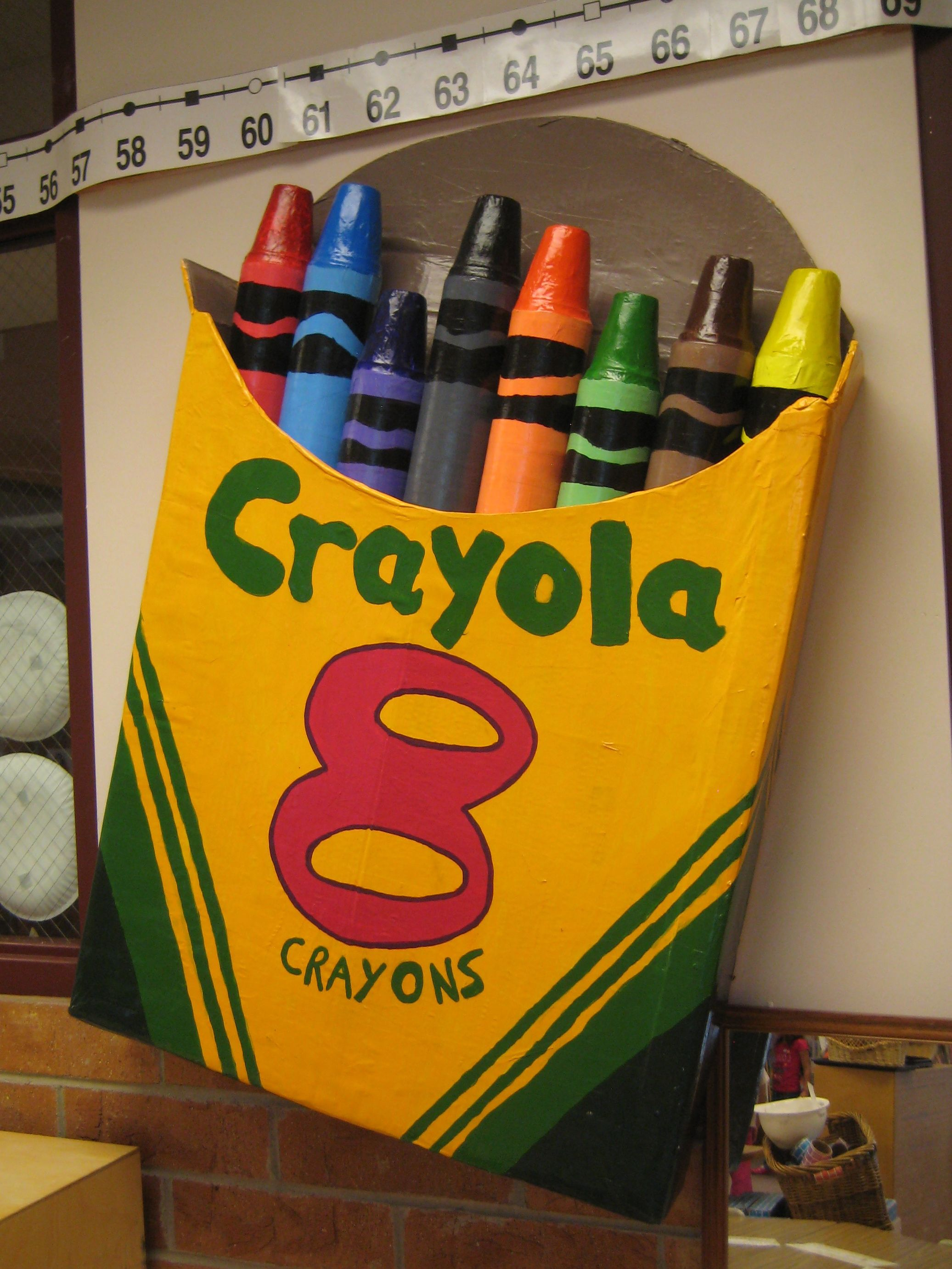 Male Classroom Decor ~ Create a crayon box for your students creative and