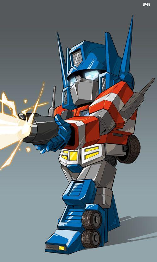SD Prime bada bada baam by Josh Perez on dyemooch.deviantart.com on @deviantART  #Transformers  #Autobots