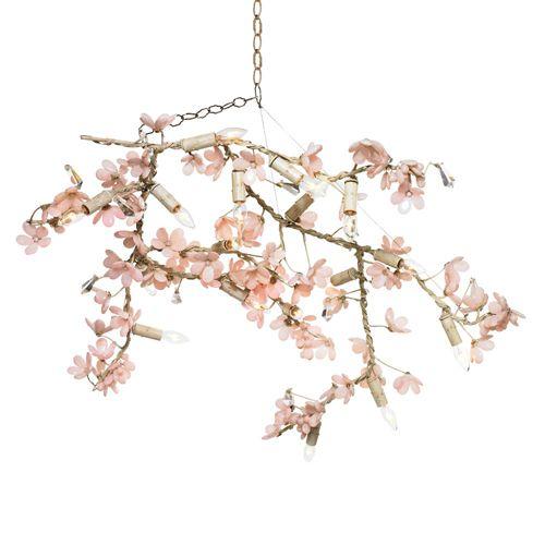 Ornella Flowering Branches Ii Chandelier Branch Chandelier Canopy Design Pink Chandelier