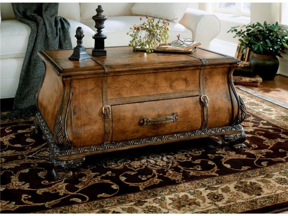 Attirant Living Room : Antique Living Room Trunk With Metal Latches Design Idea Also  Black Wooden Table