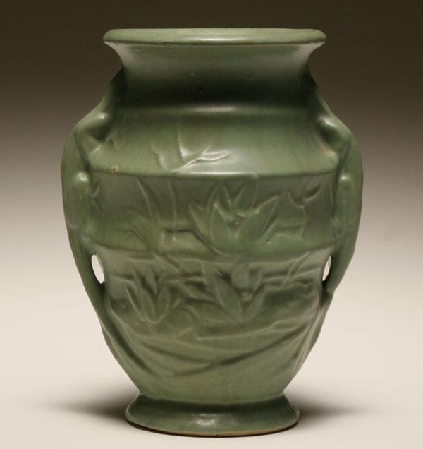 Mccoy Pottery Vase Lizard Handles Mccoy Pottery Pinterest