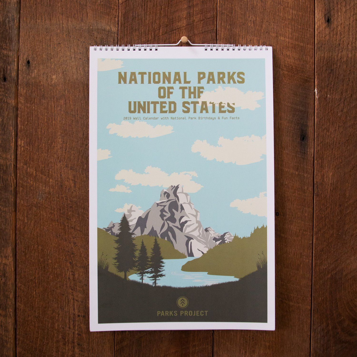 2019 National Parks Wall Calendar Parks Project National Parks Gifts National Park Gifts Wall Calendar National Parks