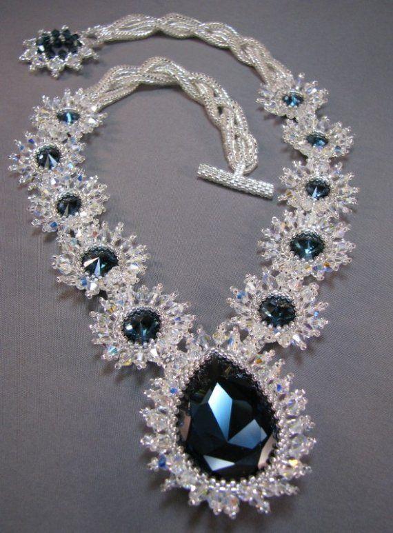 Montana Sapphire by beadwoman3 on Etsy,