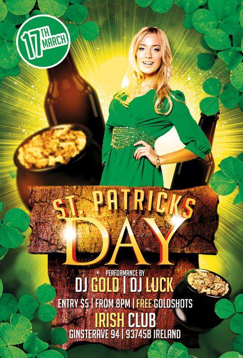 St Patricks Day Party Free Psd Flyer Template Httpfreepsdflyer