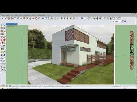 Tutorial google sketchup 8 espa ol parte 9 youtube for Programas de decoracion de casas