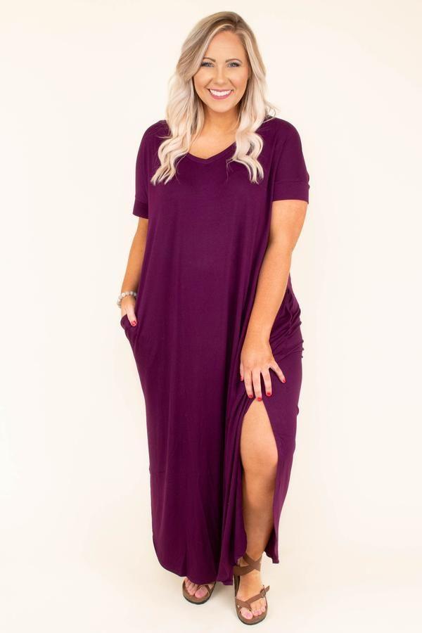 Photo of All Summer Long Maxi Dress, Dark Plum