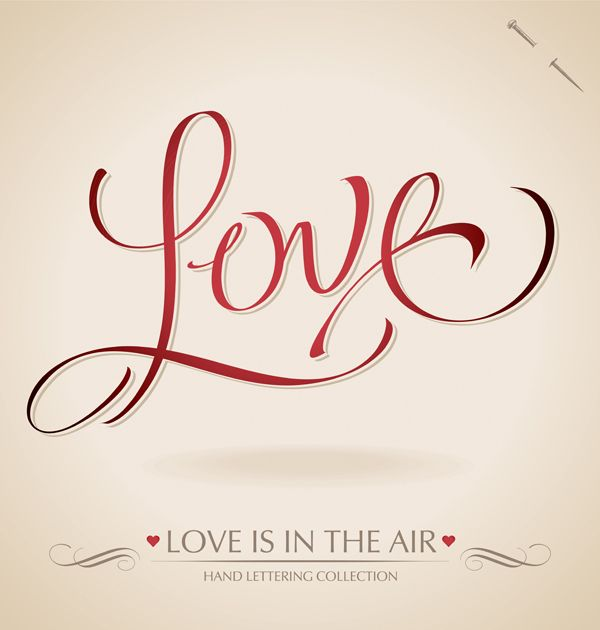 Valentine Calligraphy Collection by Letterstock , via Behance