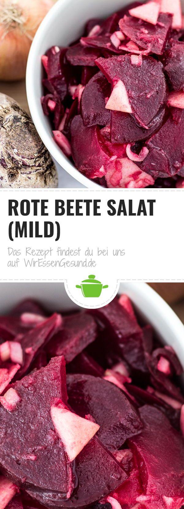 Rote Beete Salat (mild) - WirEssenGesund #griechischersalat