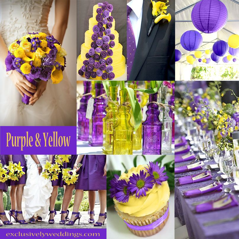 UNA wedding!! Ho awesome is this!! Purple and Yellow Wedding Colors | #exclusivelyweddings