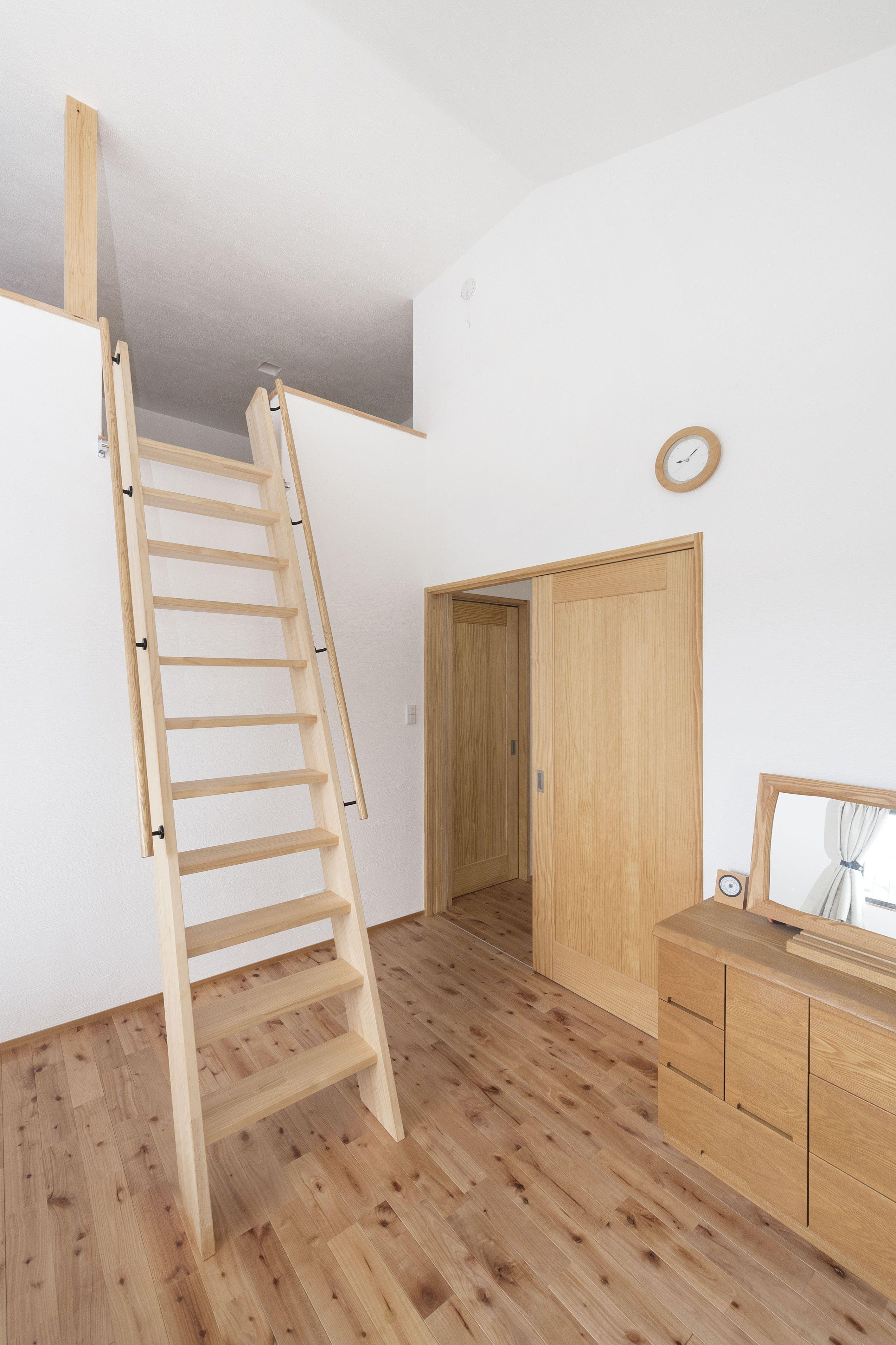 ケース71 無添加住宅 ロフトはしご 自宅で