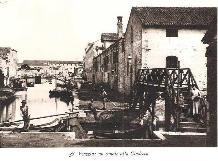 un canale alla giudecca | Venezia, Foto storiche, Foto