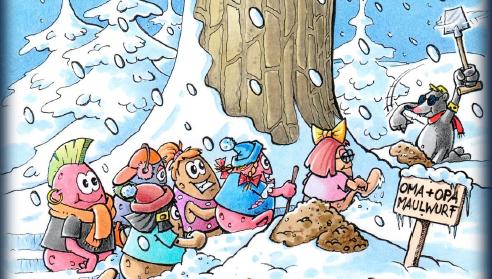 """Unsere Gastautoren Erika Bock und Volker Nöckel von der Knöllchenbande haben extra für die Weihnachtszeit ein tolles Ausmalbild für Enkelkinder entworfen.  Passend zu der bereits veröffentlichten Weihnachtsgeschichte » Weihnachten mit Oma und Opa Maulwurf"""" kann das Ausmalbild mit dem kleinen Maulwurf Volli und seinen Freunden kostenlos ausgedruckt werden. Und schon kann das Ausmalen beginnen…"""