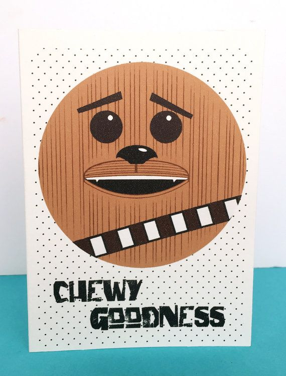 Star Wars Chewbacca Birthday Card Any Occasion Star Wars Geek
