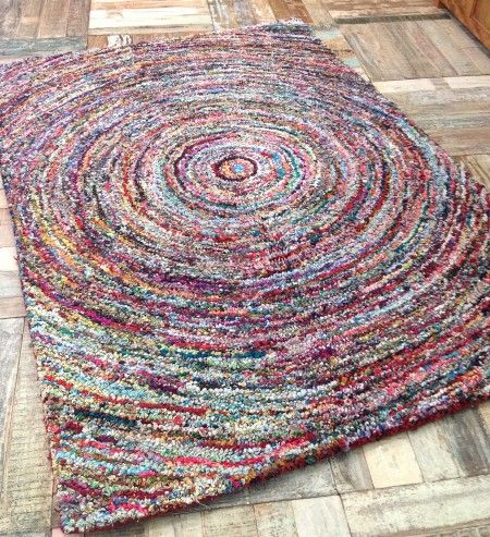 Fair Trade Spiral Spice Traditional Hooked Rag Rug Rag Rug Fair Trade Rugs Rug Inspiration