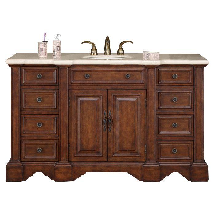 Silkroad Exclusive Sabina 58 Single Bathroom Vanity Set Reviews