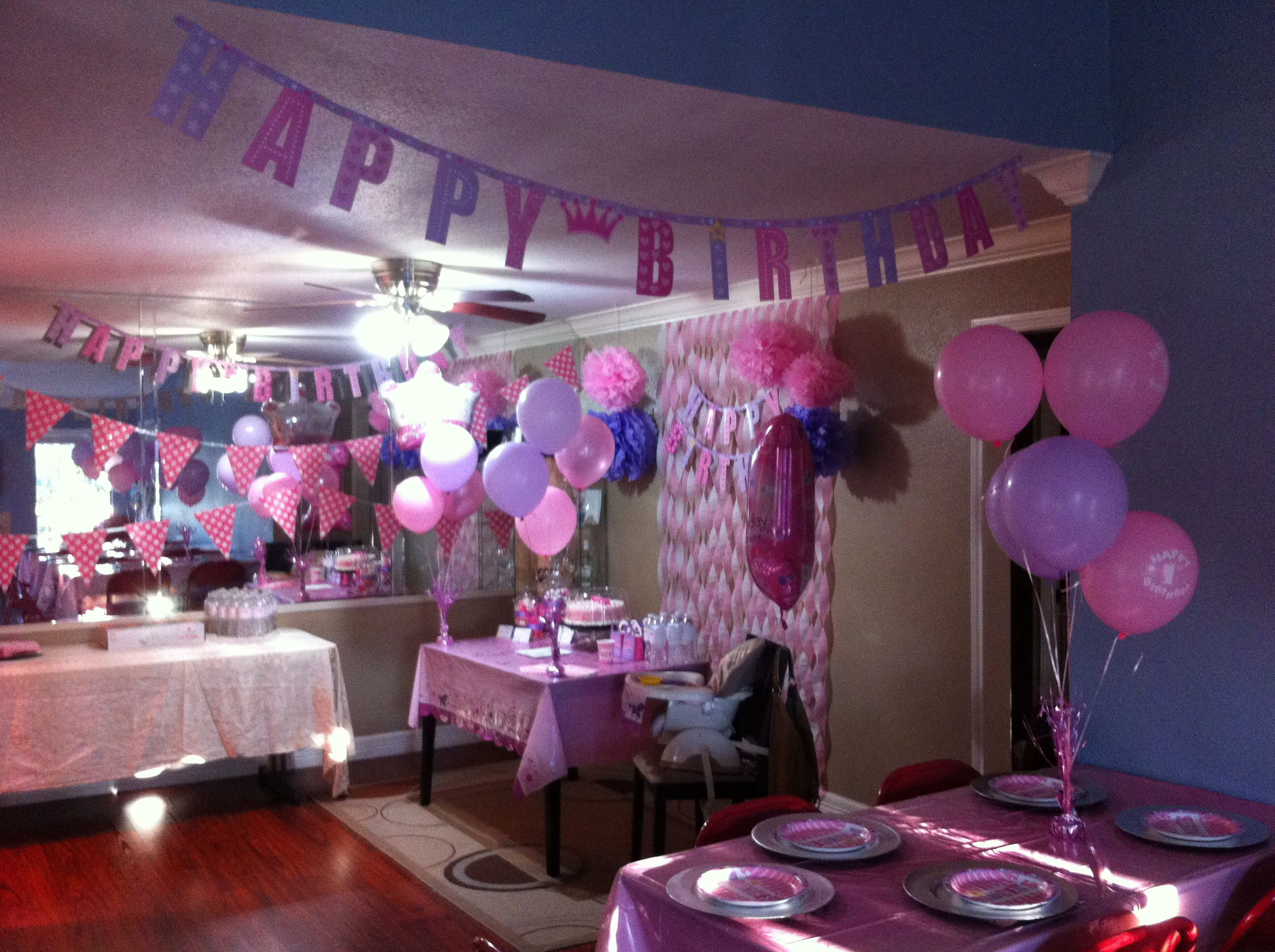 First Birthday Decor On A Budget For My Sophia Pink And Lavender Princess Party City Dollar Tree