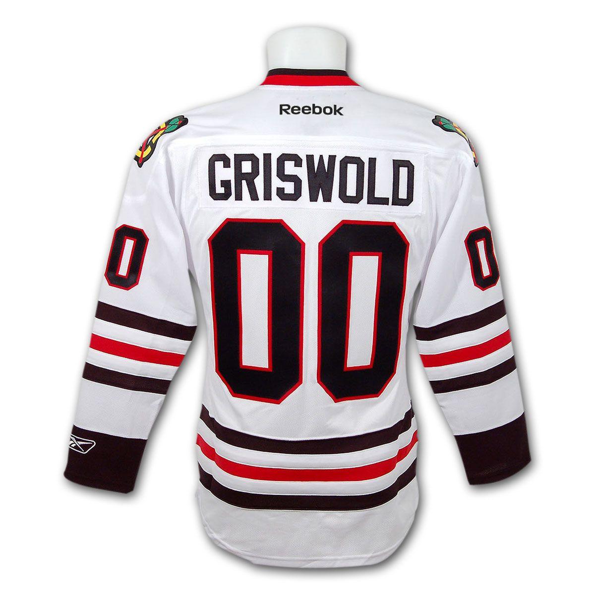 newest 735f1 de2c1 Clark Griswold Christmas Vacation Blackhawks Premier Replica ...