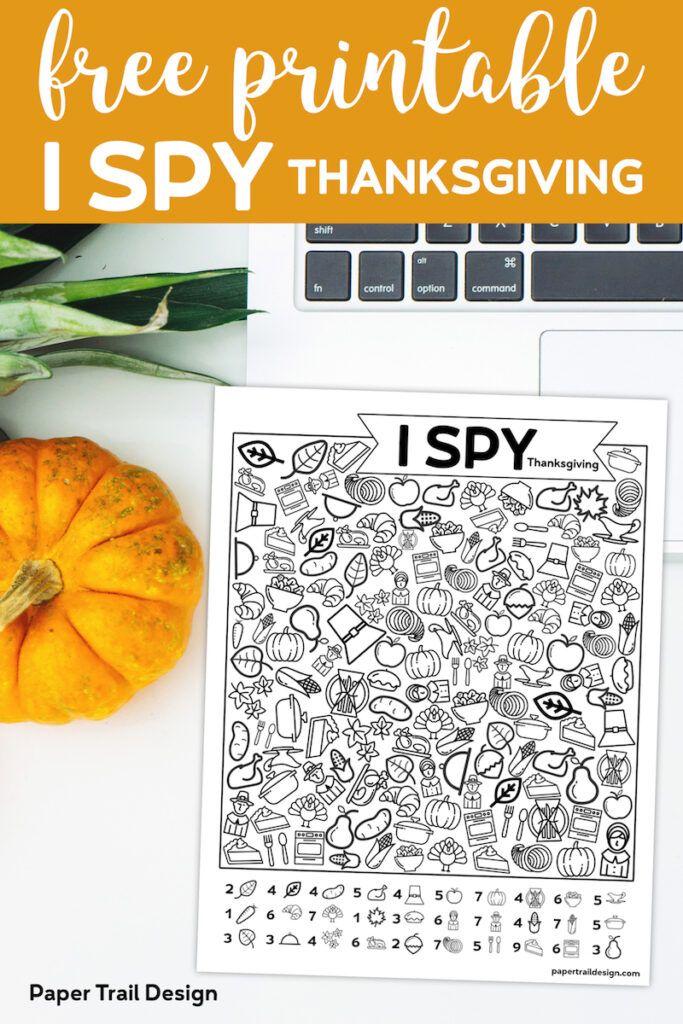 Free Printable I Spy Thanksgiving Activity Paper Trail
