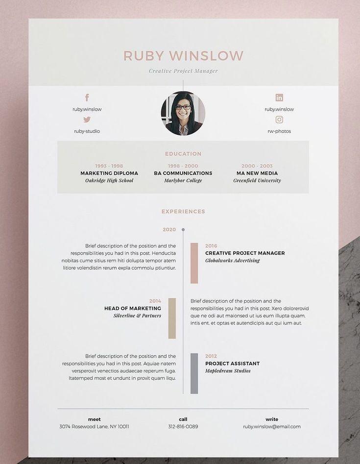 Vorlage Fur Lebenslauf Lebenslauf Ruby 3 Seiten Unser Design Ruby Enthalt Ei Poverpojnt Zeitleiste Design Lebenslauf Lebenslaufvorlage