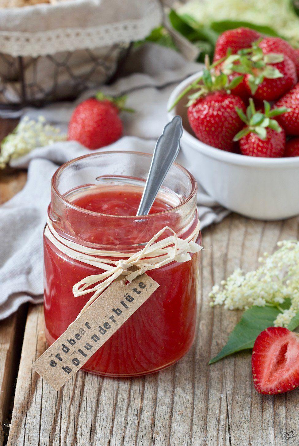 Erdbeer Holunderblüten Marmelade – Rezept – Sweets & Lifestyle®